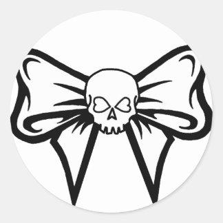 Skull-N-Bow Sticker