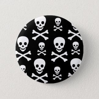 Skull N Crossbones 2 Inch Round Button