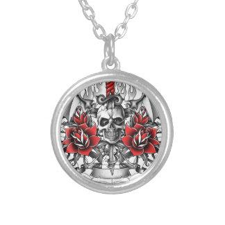 Skull n Dagger with Devil wings Pendant