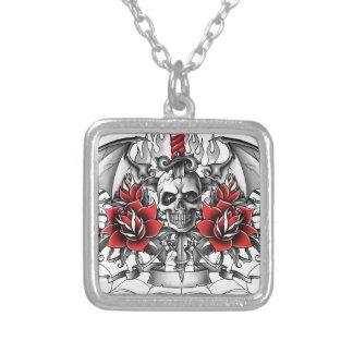 Skull n Dagger with Devil wings Custom Jewelry