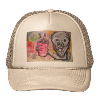 SKULL N DRINK #7 TRUCKER HAT