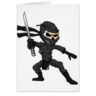 skull ninja cartoon. card