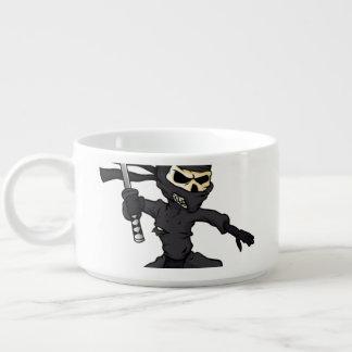 skull ninja cartoon. chili bowl