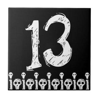 Skull Number Tile