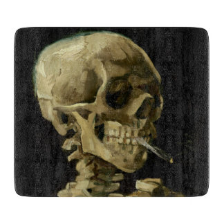 Skull of a Skeleton with Burning Cigarette by Vinc Boards