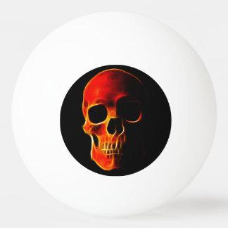 Skull of Flames Ping Pong Ball
