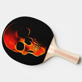 Skull of Flames Ping Pong Paddle
