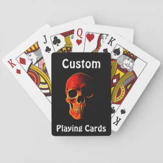 Skull of Flames Poker Cards Template