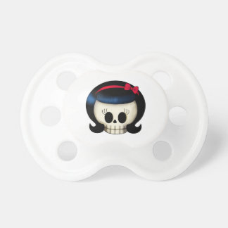 Skull of Rockabilly Girl Baby Pacifiers