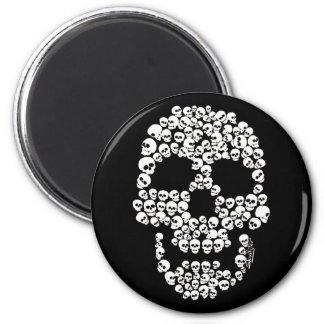 Skull of Skulls Round Magnet