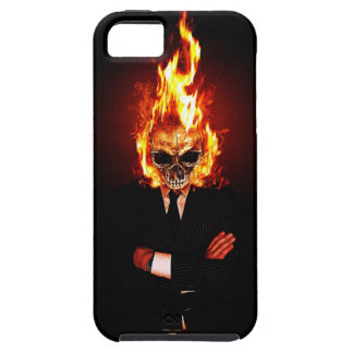 Skull on fire iPhone 5 cover