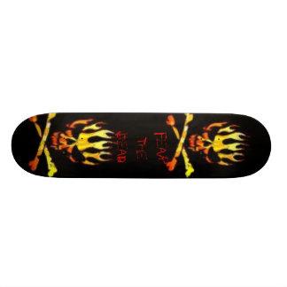 Skull On Fire Skate Decks