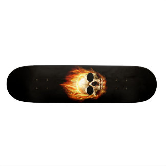 Skull On Fire Skateboard Decks