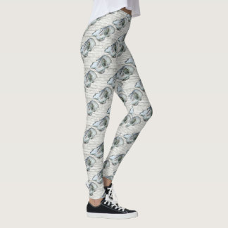 Skull on Whitewash leggings