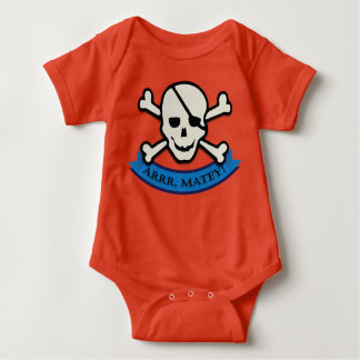 Skull - Orange Baby Jersey Bodysuit