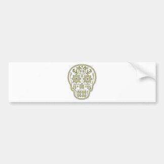 Skull Ornament Bumper Sticker
