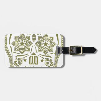 Skull Ornament Luggage Tag