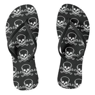 Skull Pair of Flip Flops
