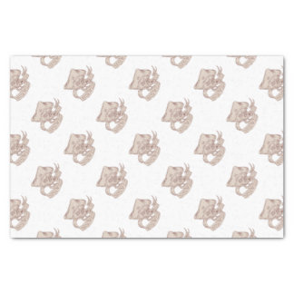 Skull Patriot Ribbon Flag Drawing Tissue Paper