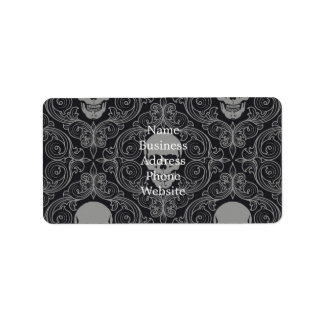 Skull Pattern Gray and black Texture Gothic Floral