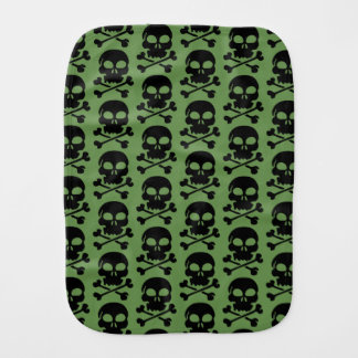 Skull Pattern Halloween Burp Cloth