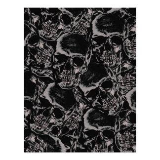 Skull pattern letterhead