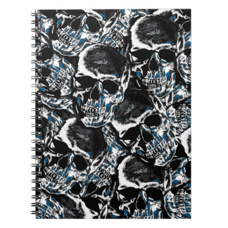 Skull pattern spiral notebook