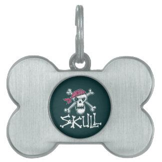 skull pet ID tag