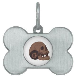 skull pet ID tags