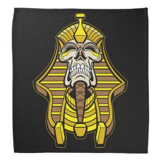 Skull Pharaoh With Golden Head Dress Biker Dew Rag Bandana