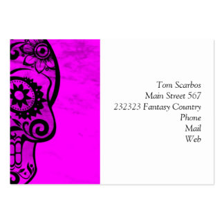 Skull pink 04 business cards