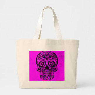 Skull pink 04 canvas bag