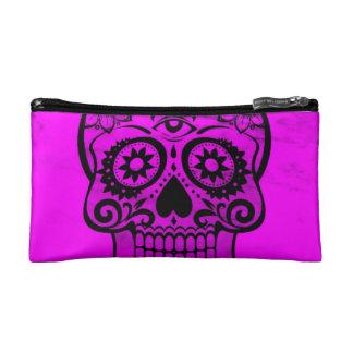 Skull pink 04 cosmetic bags