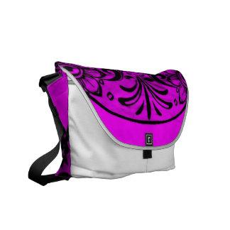 Skull pink 04 messenger bag