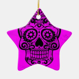 Skull pink 04 christmas ornament