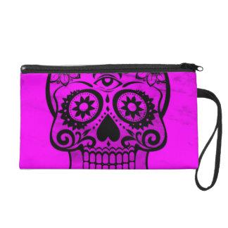 Skull pink 04 wristlet purses