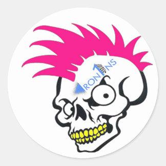 Skull pink Stickers