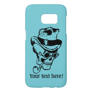 Skull, pipe and hat samsung galaxy s7 case