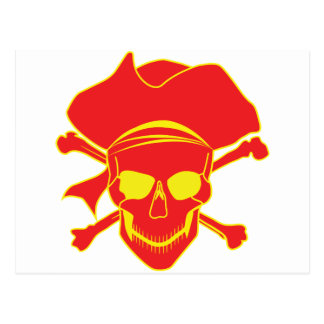 Skull Pirate Post Cards
