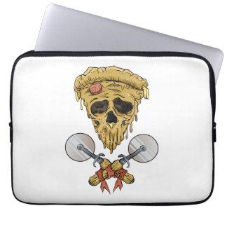 skull pizza slice. laptop computer sleeves