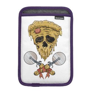 skull pizza slice. sleeve for iPad mini
