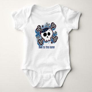 Skull Plaid Baby Personalized Custom One piece Baby Bodysuit