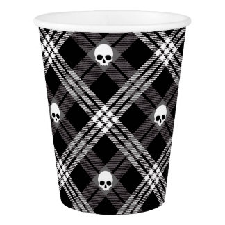 Skull Plaid Paper Cup