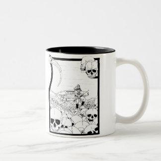 Skull Planet and Alien Break-in Mug