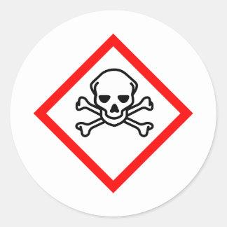 Skull Poison Classic Round Sticker