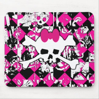 Skull Princess Graffiti Mouse Pad