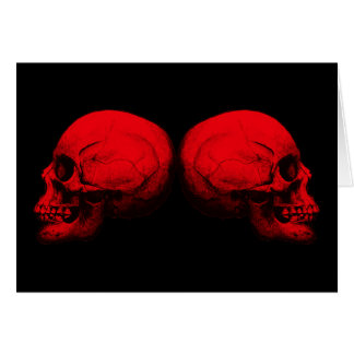 Skull Profile X2 Red Card