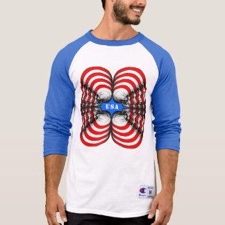 Skull Profile X4 USA T-Shirt