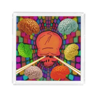 Skull Psychedelic Acrylic Tray