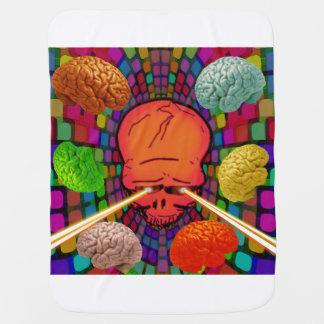 Skull Psychedelic Baby Blanket